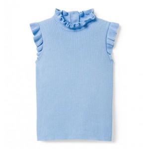 Ruffle Sleeveless Sweater