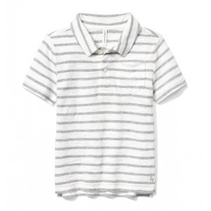 Striped Slub Polo
