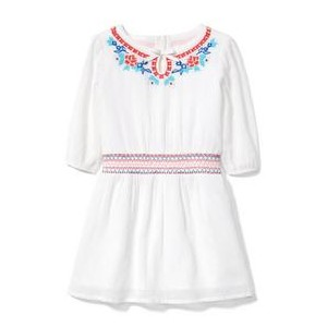Embroidered Smocked Dress