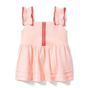Ruched Strap Peplum Top