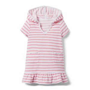 Striped Terry Hooded Dress