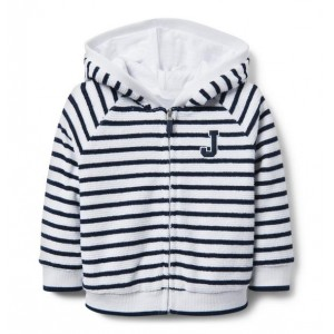 Striped Terry Hooded Jacket