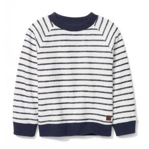 Striped Textured Sweatshirt