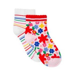 Striped & Floral Sock 2-Pack