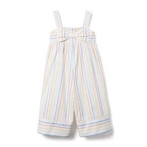 Multicolor Striped Wide-Leg Jumpsuit