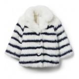 Striped Faux Fur Jacket