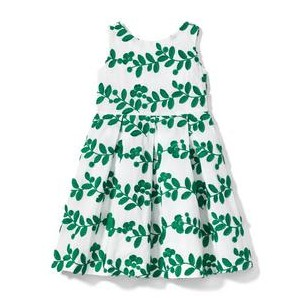 Embroidered Leaf Dress