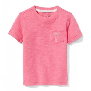 Palm Slub Pocket Tee