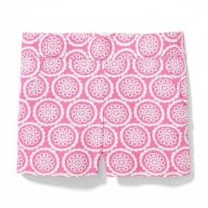 Circle Floral Canvas Short