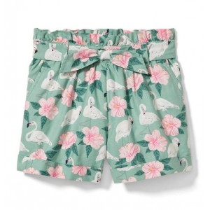 Flamingo Hibiscus Short