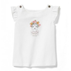 Flower Headband Girl Tee