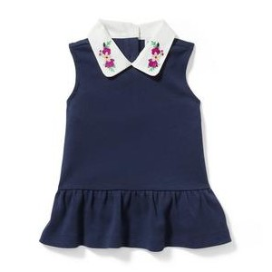 Collared Peplum Top