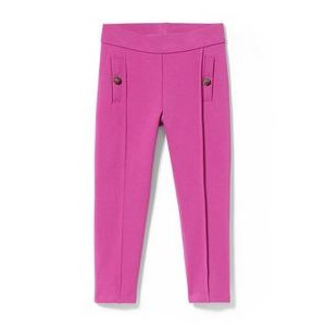Rose Button Ponte Pant