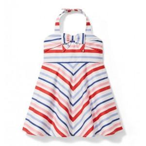 Striped Halter Dress