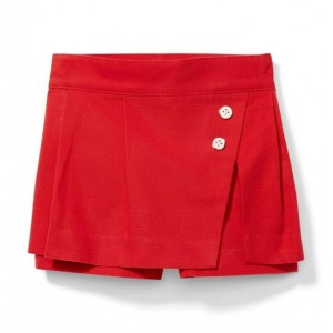 Structured Button Skort