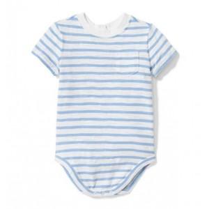 Striped Slub Pocket Bodysuit