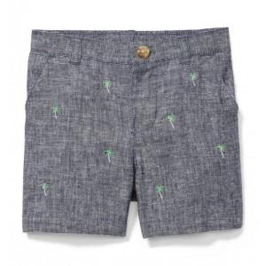 Embroidered Linen Short