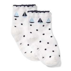 Sailboat Dot Sock