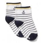 Striped Anchor Sock