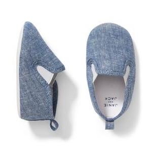 Chambray Crib Shoe