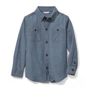 Double Pocket Chambray Shirt