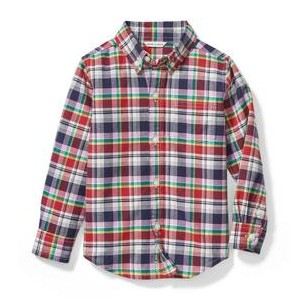 Plaid Oxford Shirt