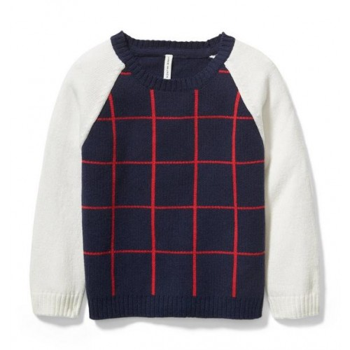 쟈니앤잭 Raglan Windowpane Pullover