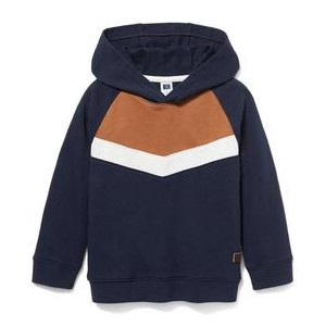 Colorblocked Hooded Sweatshirt