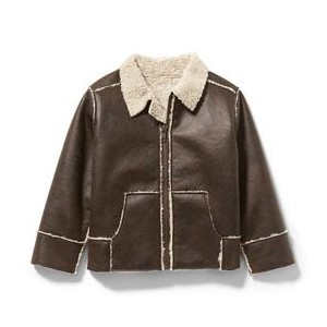 Faux Leather Sherpa Jacket