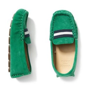 Striped Suede Driving Shoe