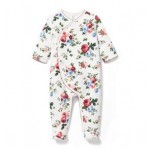 Footed Quilted Floral 1-Piece