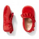 Velvet Ruffle Crib Shoe