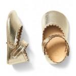 Metallic Scalloped Crib Shoe