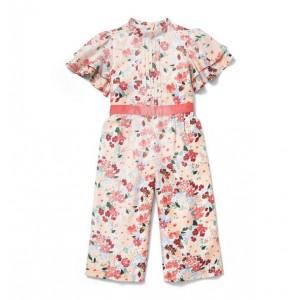 Floral Ruffle Sleeve Jumpsuit