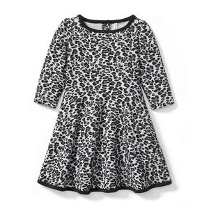 Leopard Jacquard Dress