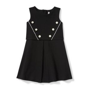 Button Ponte Dress