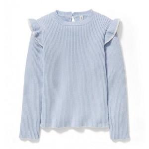 Ribbed Ruffle Sweater