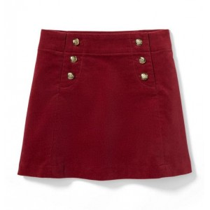 Corduroy Button Skirt