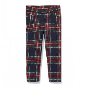 Plaid Jacquard Zipper Pant