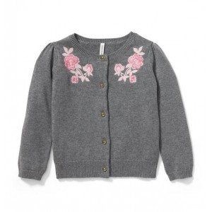 Embroidered Floral Cardigan