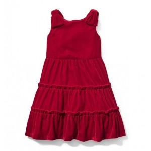 Tiered Velvet Dress