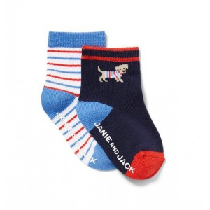 Striped And Dog Sock 2-Pack