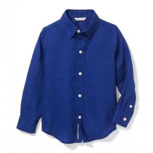 Linen Roll-Cuff Shirt