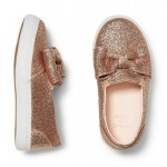 Glitter Bow Slip-On Sneaker