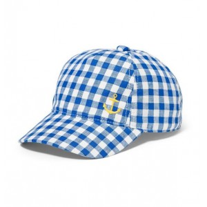 Anchor Icon Gingham Cap