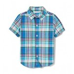 Plaid Linen Short Sleeve Shirt