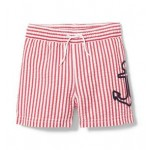 Anchor Striped Swim Short