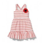 Striped Poppy Dress