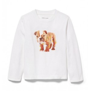Christmas Lights Bulldog Tee