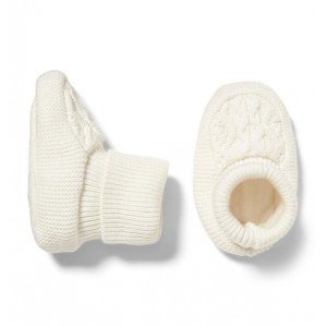 Cable Knit Crib Bootie